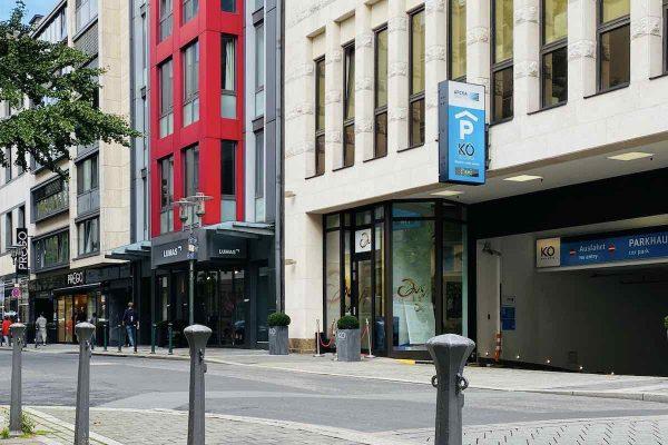 Parkhaus Kö-Galerie APCOA in Düsseldorf an der Grünstraße